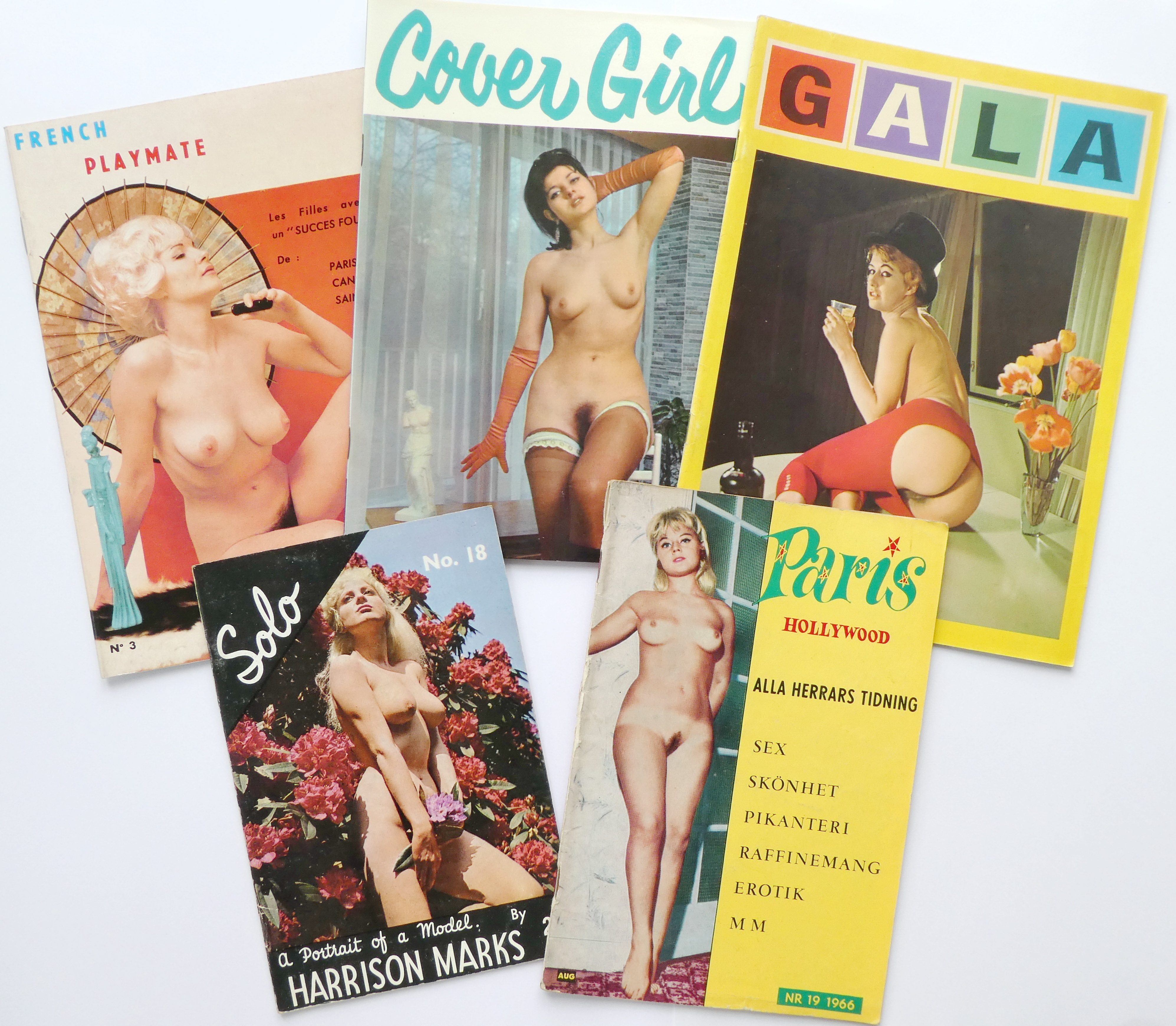 Pinup/glamour magazines (with many well-known models)